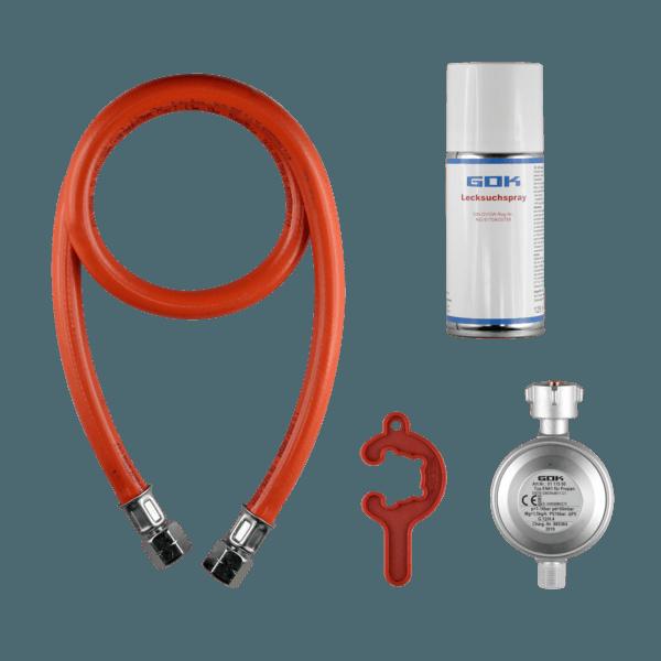Gasgrill Anschluss-Set | Gasdruckregler,...