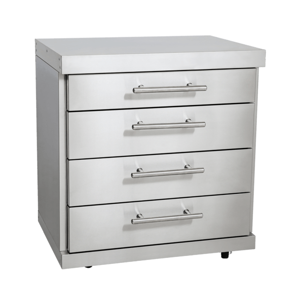 Edelstahl-Erweiterungsmodul mit 4 Schubladen