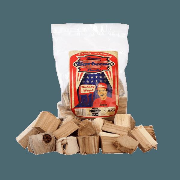 Wood Chunks   Räucherholz Hickory 1,5 kg