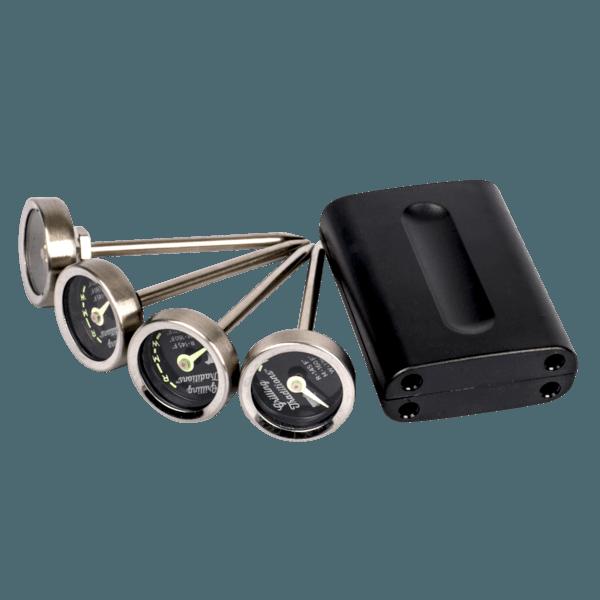Grillthermometer Analog 4er Set, fluoreszierend
