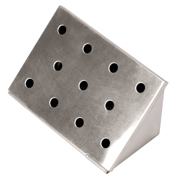 Räucherbox dreieckig, Edelstahl